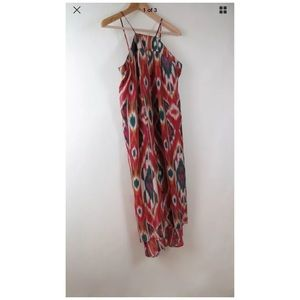 Days of the Week aztec maroon sleeveless dress